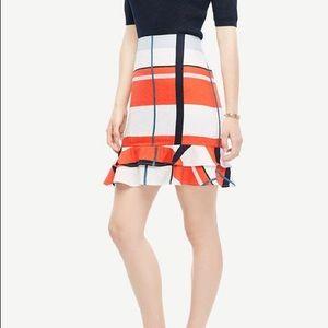 Women's Ann Taylor Plaid Ruffled Skirt - Size 10